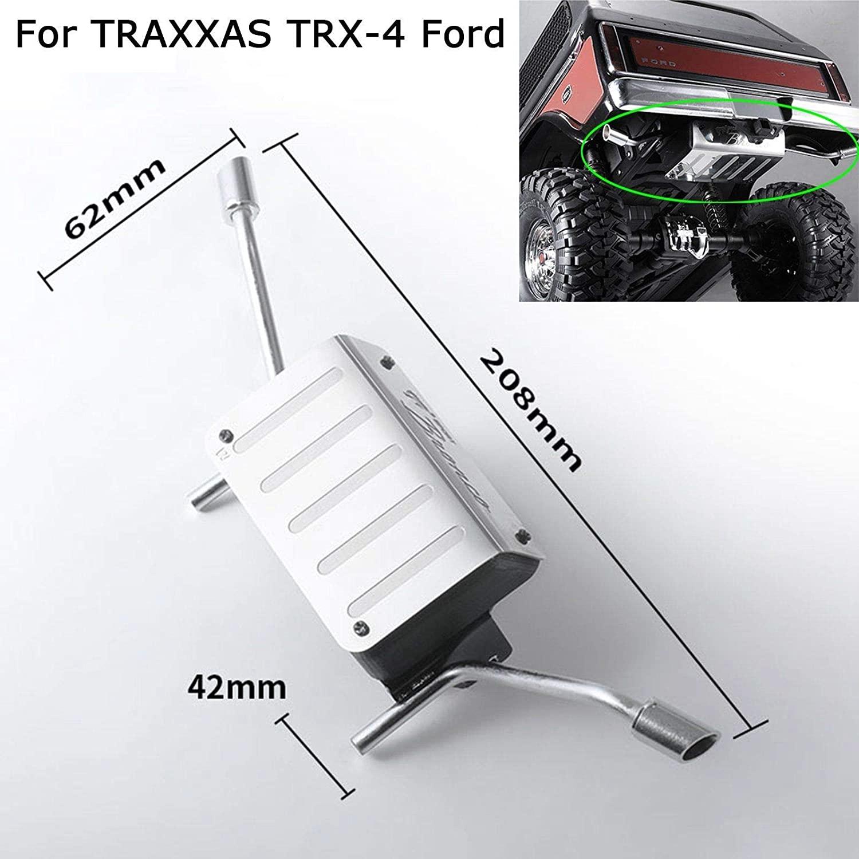 Metal Simulation Tank + Exhaust Pipe for DJ TRAXXAS TRX-4 Ford Bronco #DJC-9157