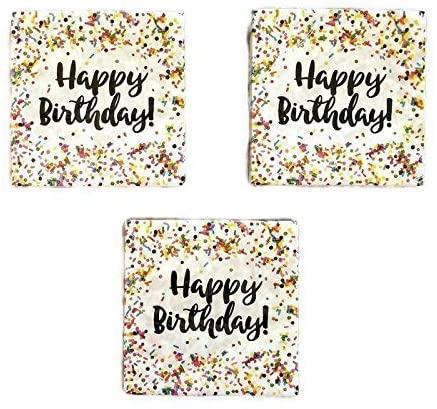 Creative Converting Sprinkles Birthday Napkins (48) Party Bundle