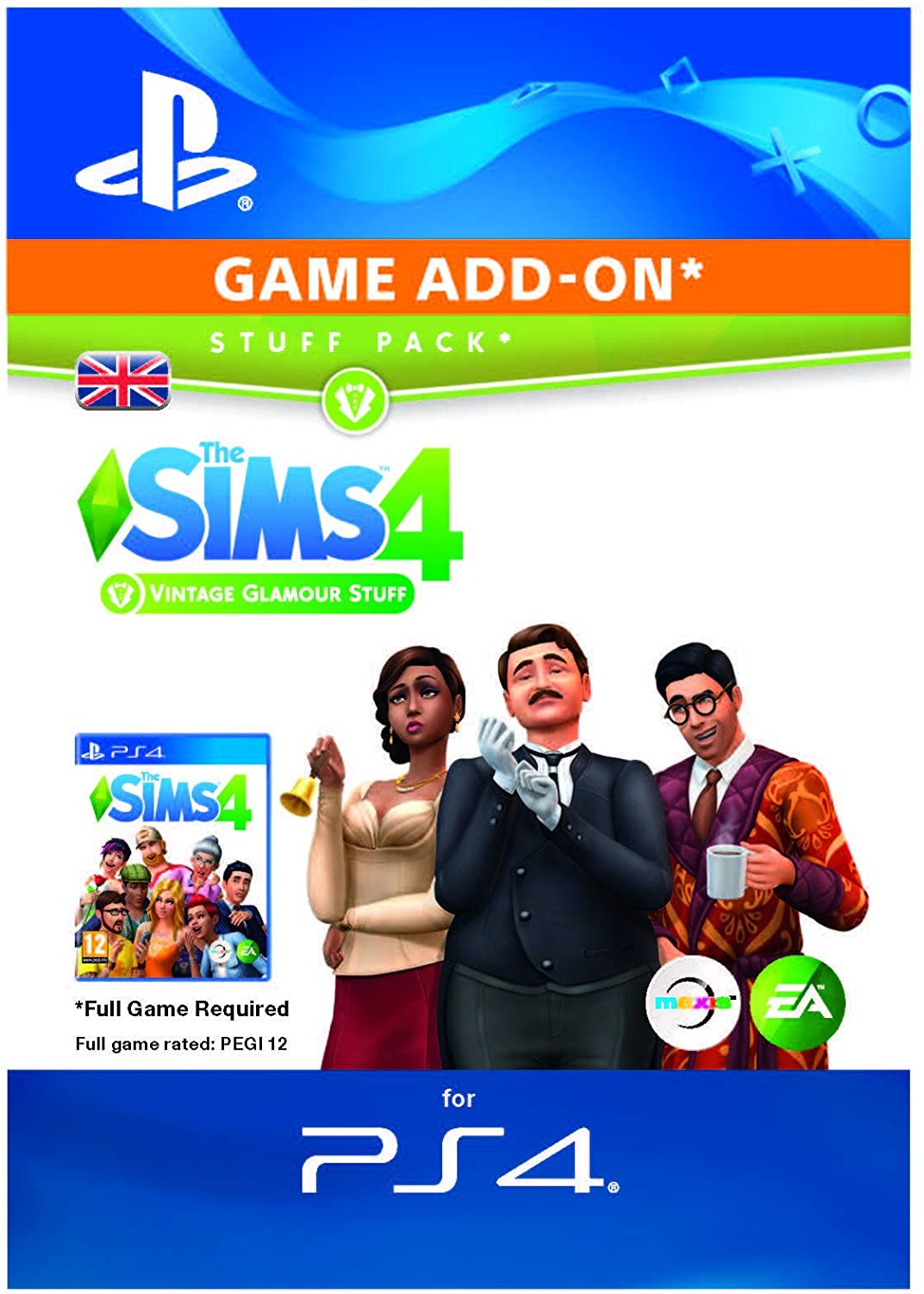 The Sims 4 - Vintage Glamour Stuff DLC | PS4 Download Code - UK Account