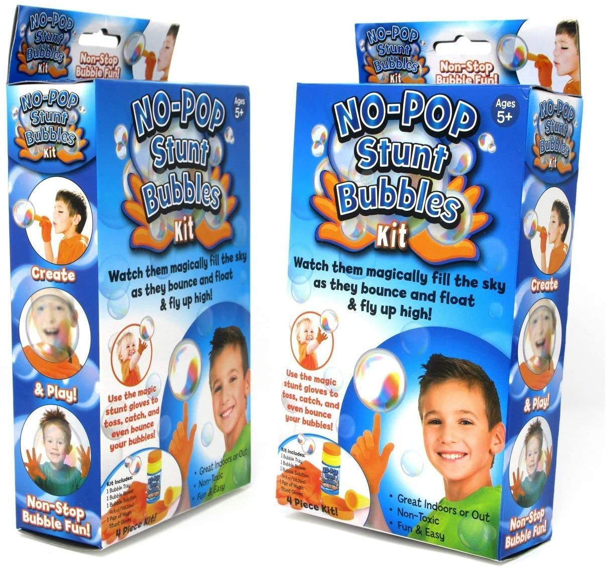Touchable Bouncing Bubbles for Kids and Party Toy Favors - Unpoppable Miracle Bubble Solution Kit with Gloves, Blower, Liquid Solution and Tray