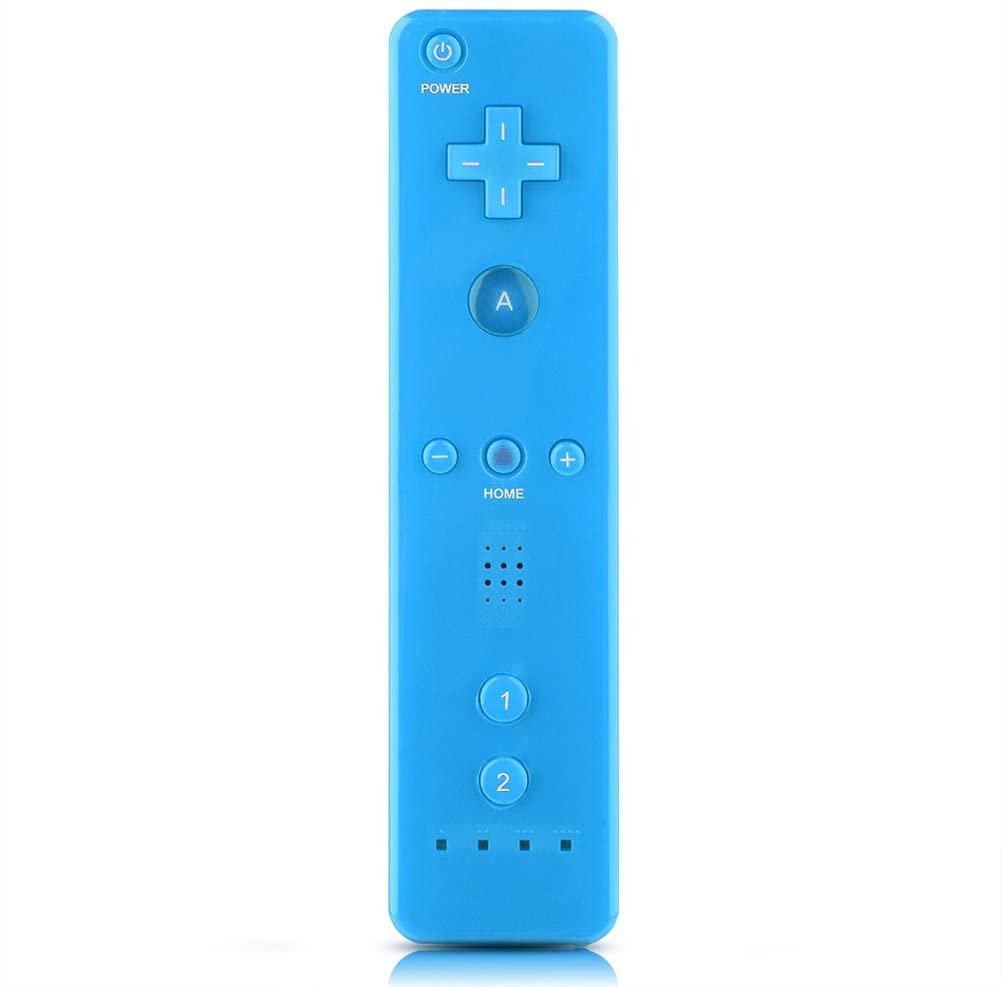 Qioni WiiU/Wii Game Controller, Wii Remote Controller Gamepad Game Handle Controller with Analog Joystick for Nintendo WiiU/Wii Console(Blue)