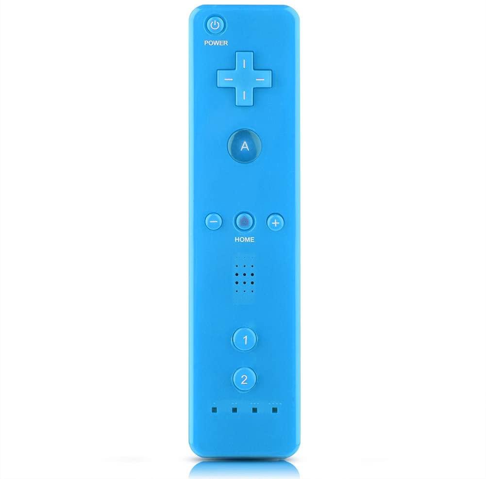 Qioni WiiU/Wii Game Controller, Wii Remote Controller Gamepad Game Handle Controller with Analog Joystick for Nintendo WiiU/Wii Console(Blue)