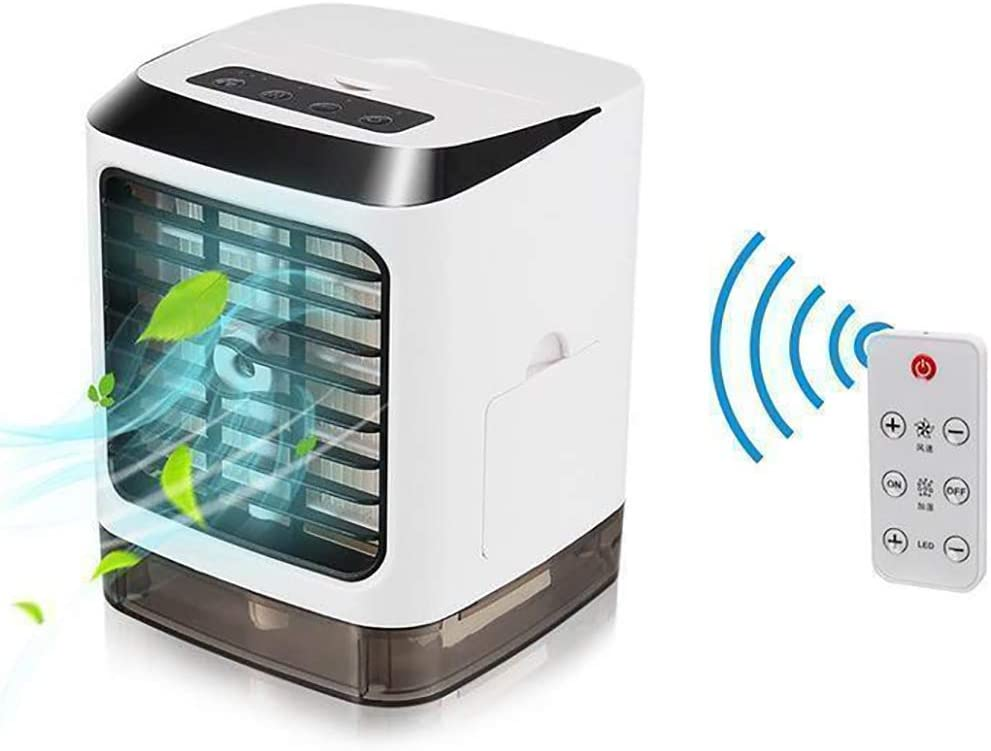 RuBao Portable Water-Cooled Air Cooler, Personal Mini Air Conditioner Fan,Evaporative Coolers Purifier,with USB, 3 Speeds Desktop Cooling Fan for Home,Office,Dorm