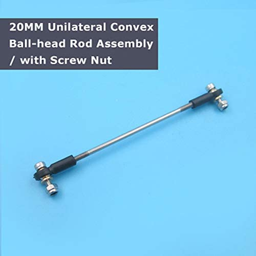 Parts & Accessories 5PCs M3 20MM Unilateral Convex Ball-Head Rod Assembly with Screw Nut Connecting Rod Steering Assembly 5mm Adjustable Range - (Color: M3x25mm)