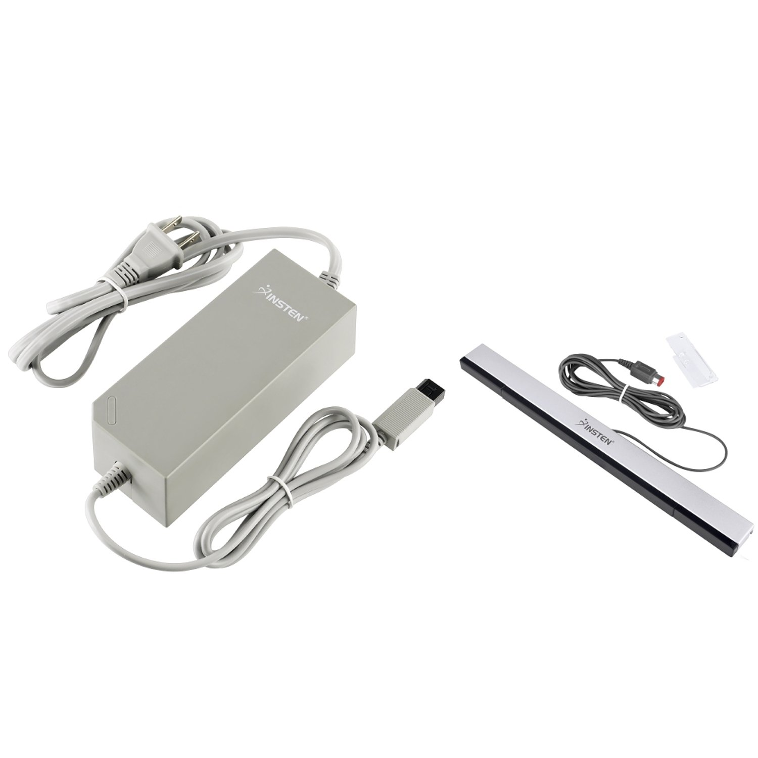 Insten Infrared Wired Sensor Bar + AC Power Adapter Compatible with Nintendo Wii