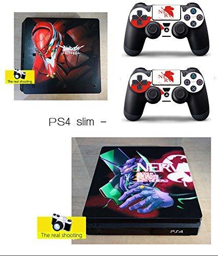 XbriteQ PS4 Slim Neon Genesis Evangelion Skin Vinyl sticker Decal