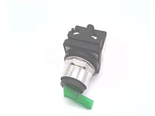 RADWELL VERIFIED SUBSTITUTE 800TC-2HGH18KL8DX-SUB 12-130V AC/DC, KNOB LEVER, UNIVERSAL LED, 2-POSITION, N/O, SPRING RETURN FROM LEFT, SUBSTITUTE FOR ALLEN BRADLEY 800TC-2HGH18KL8DX, METAL, SELECTOR SW