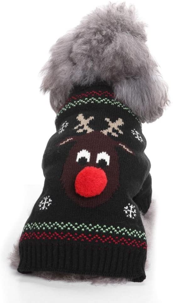 IEason Pet Clothes, Cool and Cute The Reindeer Sweater Clothing Pet Cat Dog Costume