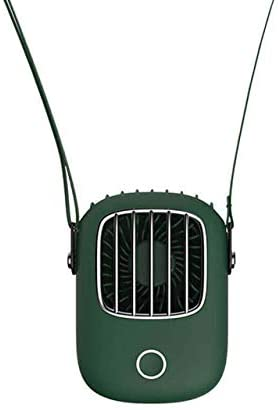 MSM Portable Handfree Small Air Conditioner Fan,Mini USB Neck Fan,Rechargeable Outdoor Travel Air Cooler for Dorm Sport Office Green 5x4x1inch