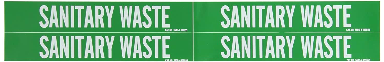 Brady 7406-4 Self-Sticking Vinyl Pipe Marker, B-946, 1 1/8