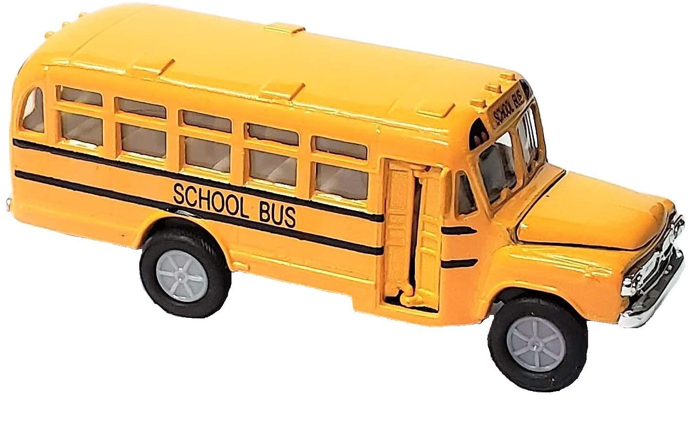 Zugar Land Die Cast Metal Toy Yellow School Bus (5