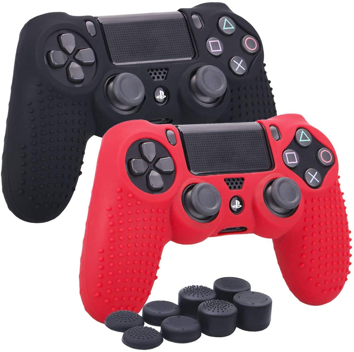 Silicone Cover Skin Case for Sony PS5 Thumb Grips