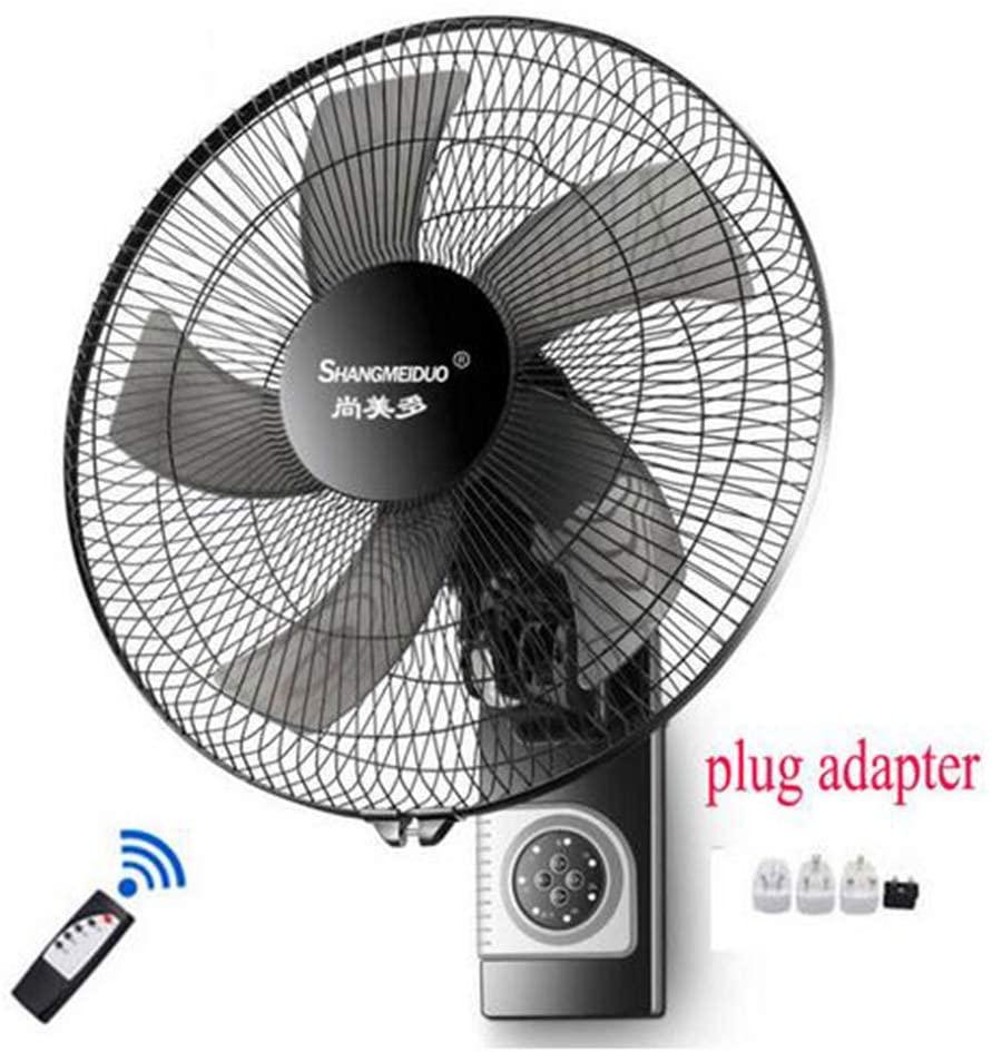MEICHEN Low Noise 17inch Wall Fan Wall-Mounted Electric Fan Home Restaurant Shaking Head Mute Air Cooler Fan Industrial Wall-Mounted Fan,D