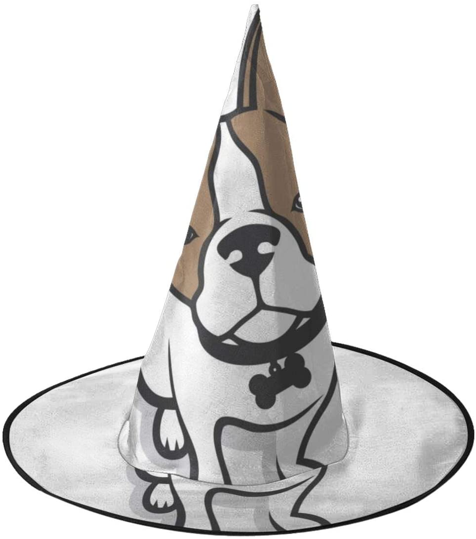 Halloween Witch Hat,French Bulldog - Vector Illustration Halloween Costume Witch Hat for Holiday Party