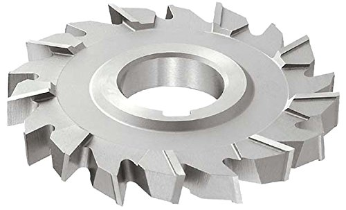 KEO Milling 03641 Staggered Tooth T15 Supreme Side Milling Cutter,NS Style, 5/16 Width, 1 Arbor Hole, 18 Teeth, 3 Cutting Diameter, HSCO, TiN Coating