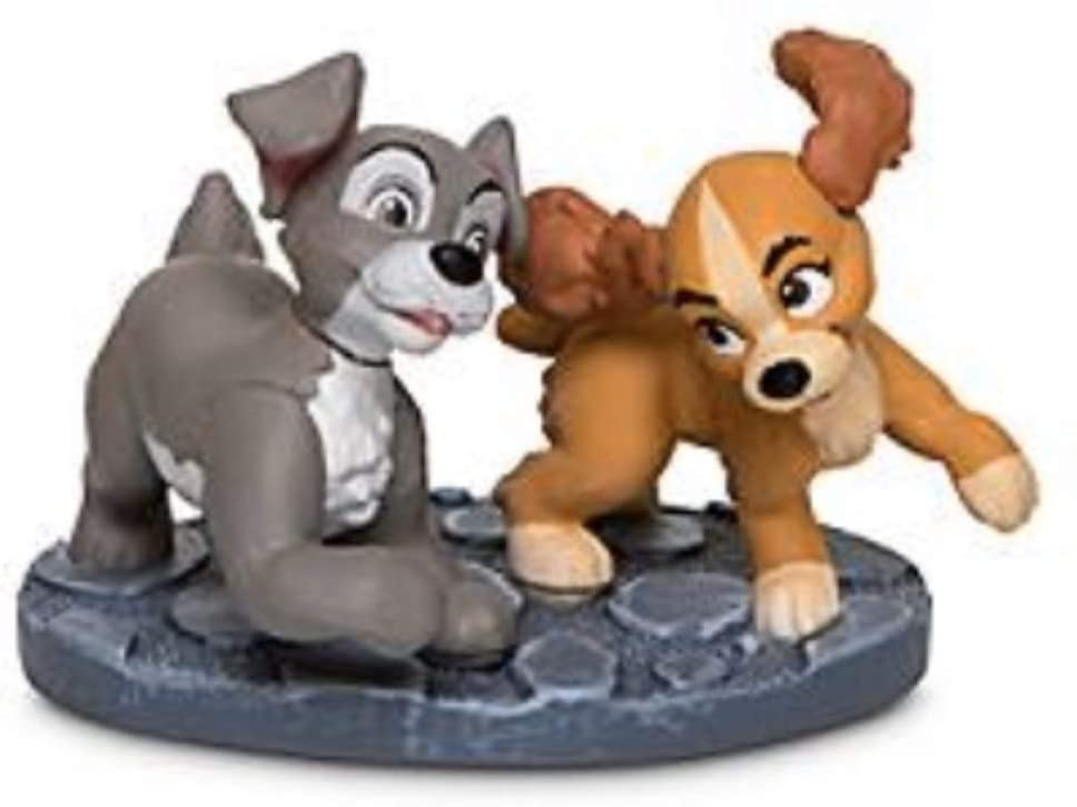 """Disney Lady And The Tramp Scamp With Colette Lose Mini Pvc Figure Figurine Cake Topper 2"""""""