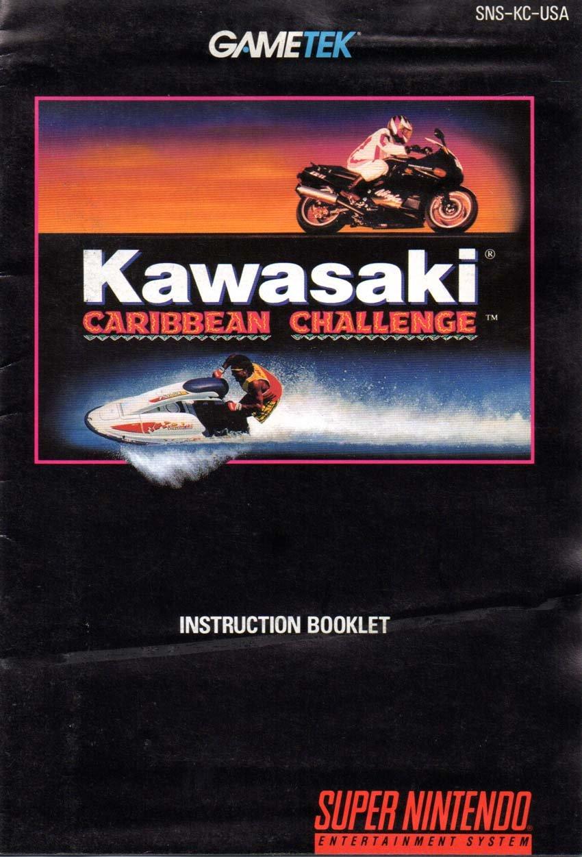 Kawasaki Caribbean Challenge SNES Instruction Booklet (Super Nintendo Manual Only - NO GAME) [Pamphlet only - NO GAME INCLUDED] Nintendo