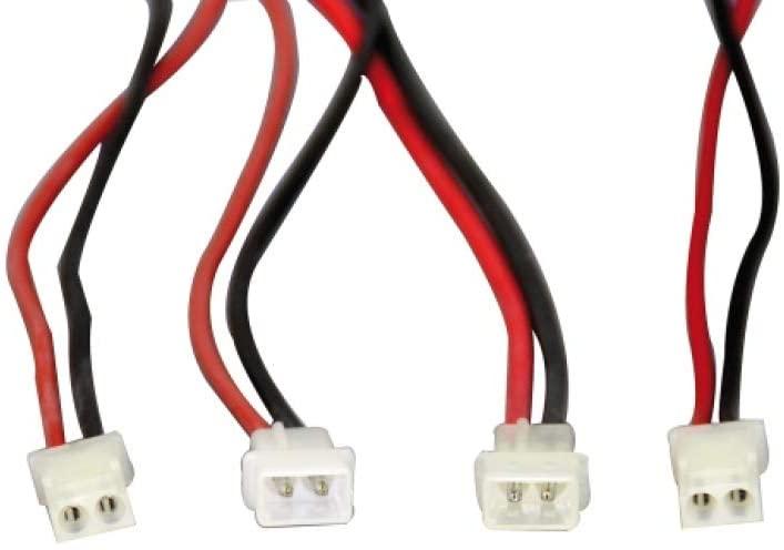 Jamara 332021 Amp Plug and Socket with 1.5Mm Silicon Le, Multi Color