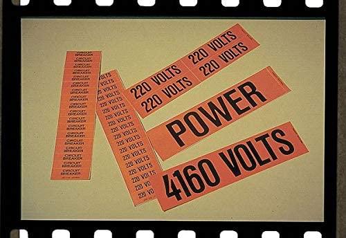 Pipe Marker, Legend 4160 Volts, Orange, PK5