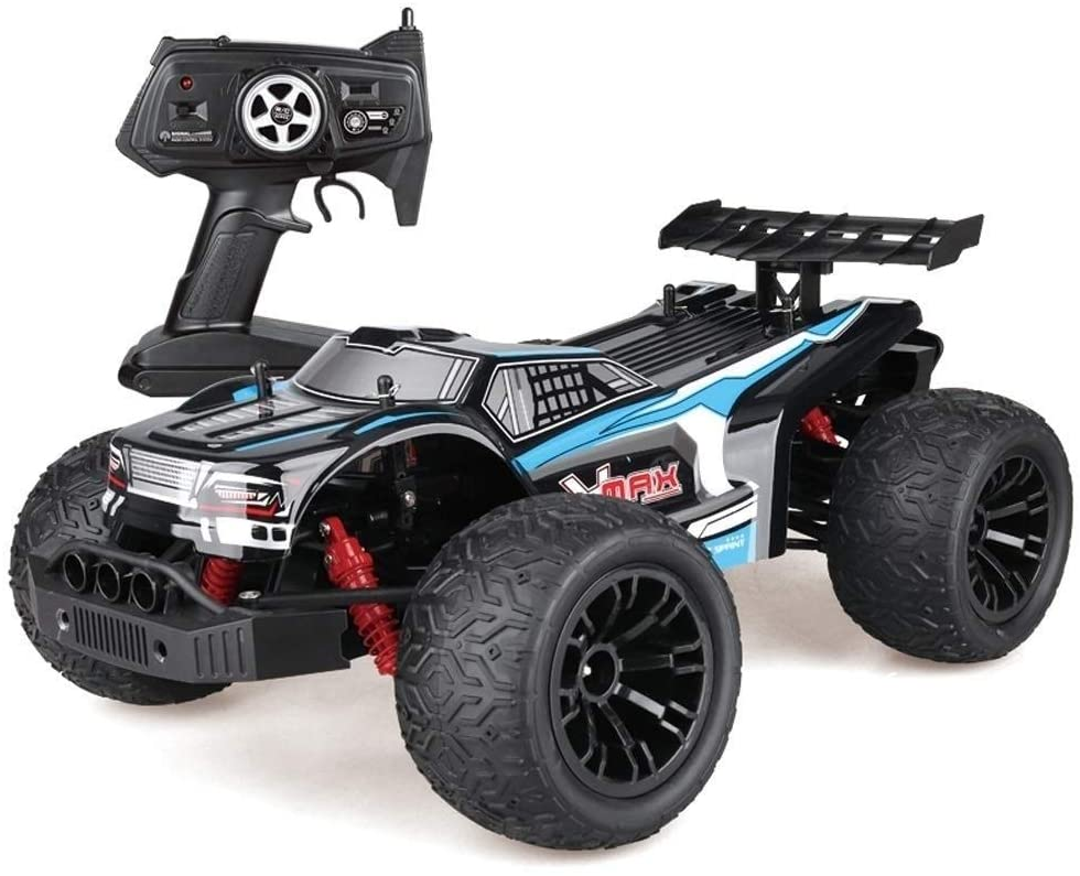 Xuess RC Cars 2.4 GHz High Speed Race Car Large Climbing Car Off-Road Radio Control Toys Car Resistant to Impact 4WD Racing Vehicle Off Road Vehicle for Kids Gift (Color : Blue)