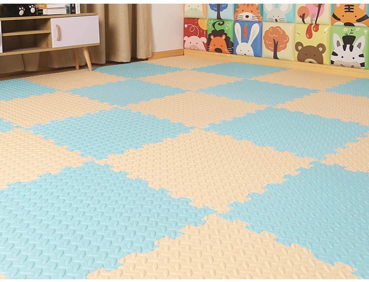 HOMRanger Solid Puzzle Interlocking Carpet,pe Padding Soft Floor Tiles Play Mat for Hard Tiles Bedroom Living Room Exercise Play E 30302.5cm(30 Pack)