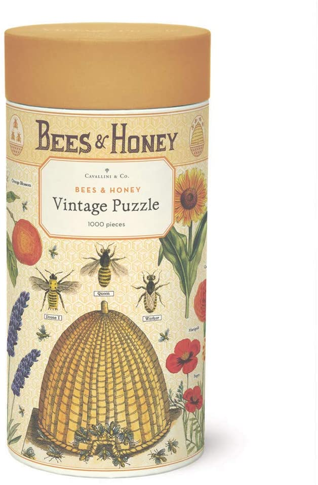 Cavallini Papers & Co. Bees & Honey 1,000 Piece Puzzle, Multi