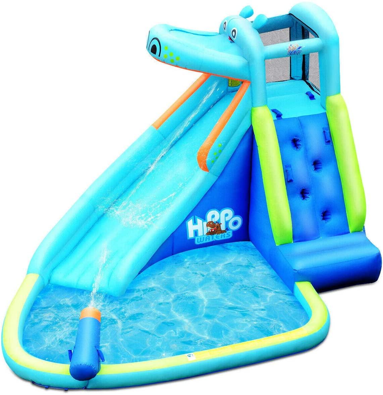 Salekraft Kids Hippo Inflatable Bounce House with Bag