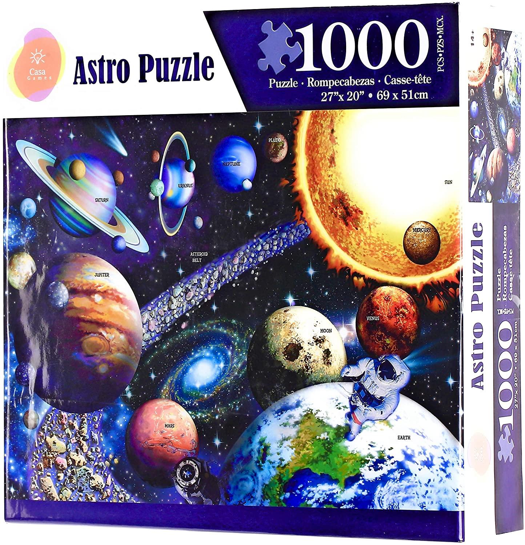 Casa Games Puzzles for Adults- 1000 Piece Puzzle- Rombecabezas para Adultos- Prime 1000 Piezas- Games Adults- Solar System Family Puzzle Kids- Rompecabezas