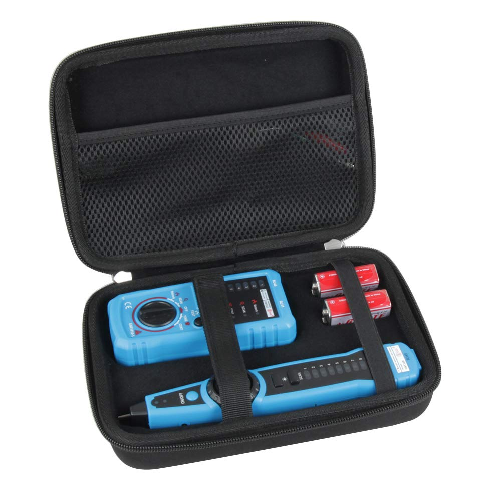 Adada Hard Travel Case for ELEGIANT/Tacklife/Meterk RJ11 RJ45 Cable Tester Line Finder Multifunction Wire Tracker Toner Ethernet LAN Network Cable Tester