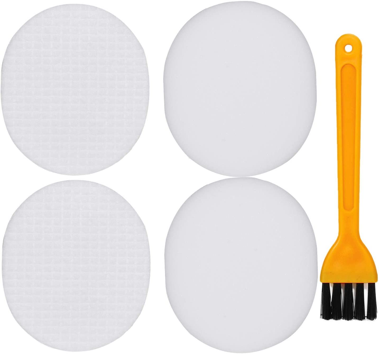 HIFROM Replacement Foam and Felt Filter Kit with Cleaning Brush Replacement for Shark Navigator NV80 NV70 NV90 UV420 NVC80C DLX Replaces Part# XFF80 & XHF80