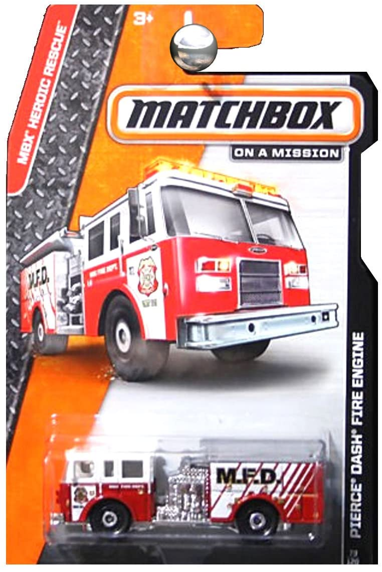 Matchbox, 2015 MBX Heroic Rescue, Pierce Dash Fire Engine [Red] 62/120
