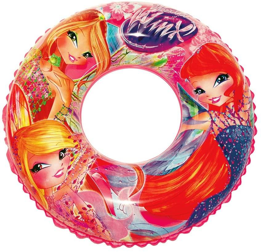 Beach Art Donut Line Winx, Inflatable Ring Sea Girl, Pink, 76cm Diameter