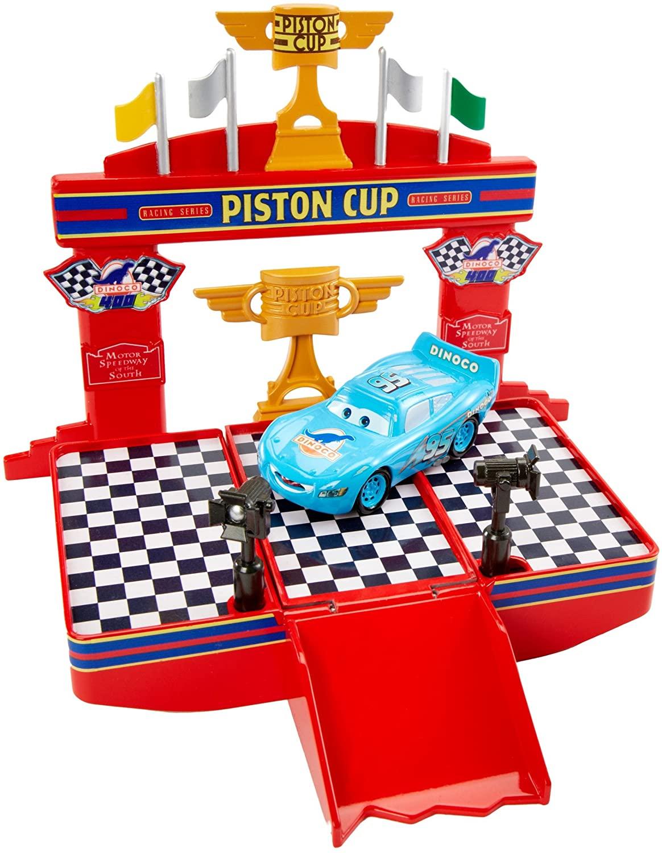 Disney Pixar Cars Wheel Action Drivers Race & Win Playset