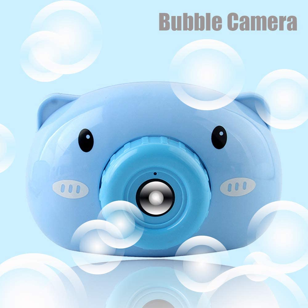 Bubble Machine for Kids Automatic Bubble Camera Summer Bubble Blower Toy for Toddlers Boys Girls Easy to Use Provide Free Bubble Refill Solution & Batteries Bubble Maker for Indoor Outdoor Party