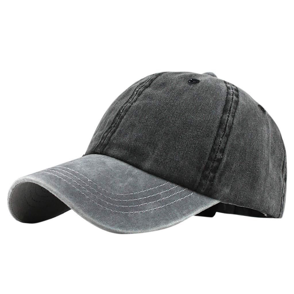 XGao Baseball Hats for Women, Black Baseball Cap Men, Unisex Men Women Baseball Cap Outdoor Cotton Solid Color Hat Caps Hats Adjustable (E)