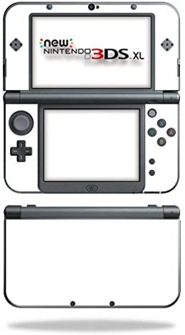 MightySkins Skin Compatible with New Nintendo 3DS XL (2015) Cover wrap Sticker Skins Solid White