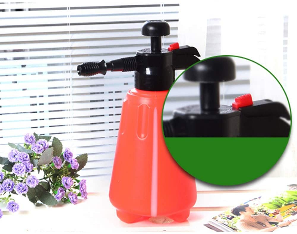 Gardening Products Pneumatic Multi-Angle Spray Powerful Hand Pressure Multi-Function Sprinkler (Color : Red, Size : M)