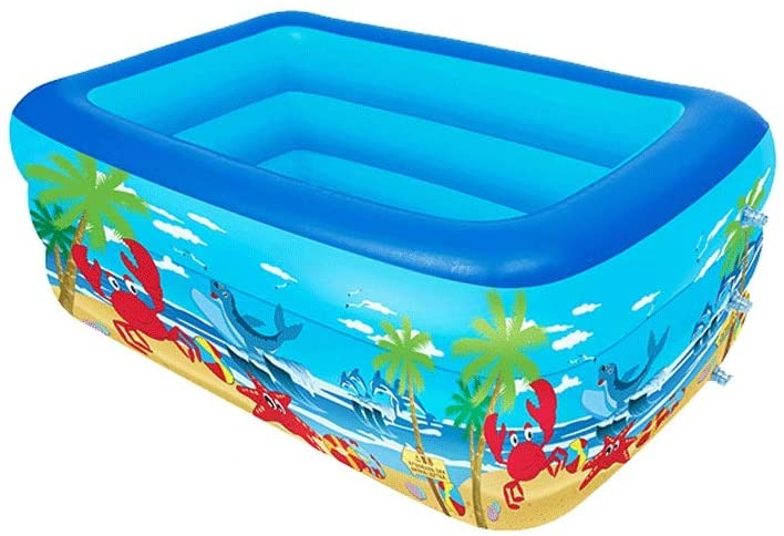 LRHD Inflatable Pool, Thickness PVC Environment-Friendly,Blow up Kiddie Pool for Family, Garden, Outdoor, Backyard, Swim Center Family Inflatable Pool Family Kid Adult Bath Tubs for Ages 3
