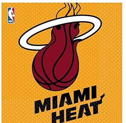 Amscan 513626 Miami Heat NBA Collection Luncheon Napkins, 16 pcs