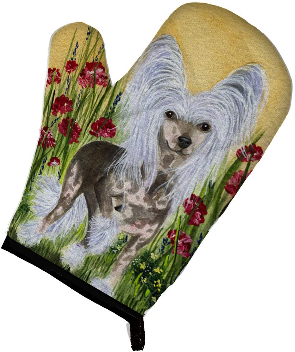 Caroline's Treasures SS8185OVMT Chinese Crested Oven Mitt, Large, multicolor