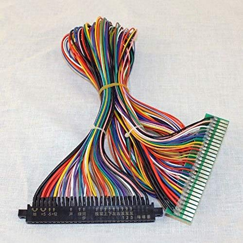 Full 56 pin 100cm Jamma harness for arcade game board JAMMA Cabinet Wire / Wiring Harness Loom Arcade PCB