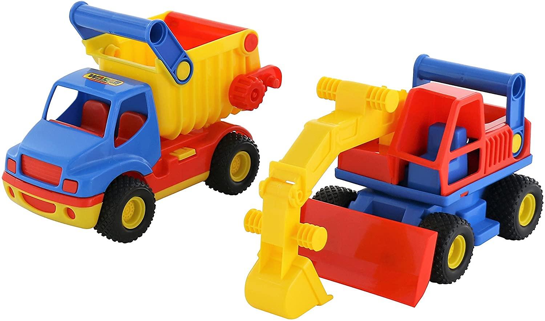Polesie Polesie0452 Construck Tipper and Excavator Toy