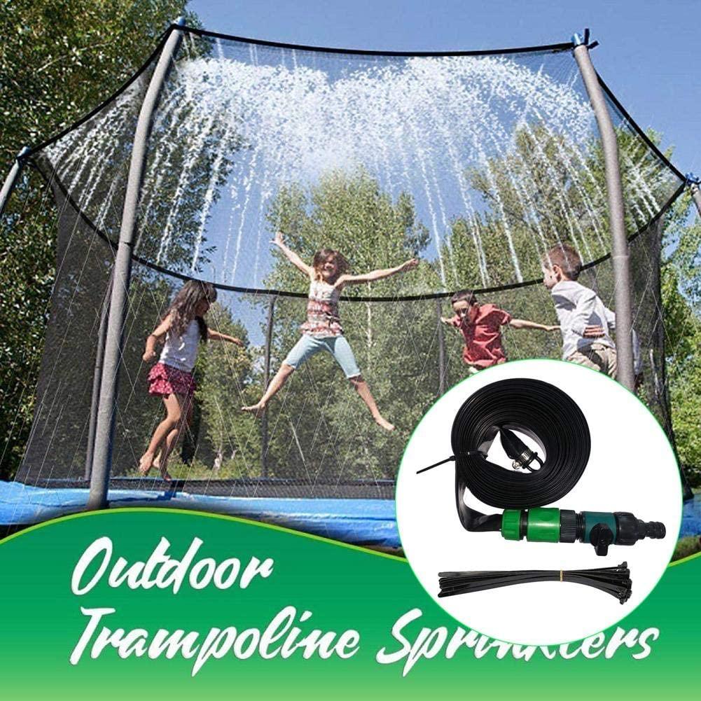 VAHIGCY Trampoline Sprinkler for Kids, Trampoline Sprinkler Hose Outdoor Water Sprinkler Toy, Summer Water Game Yard Toys Accessories(15m)