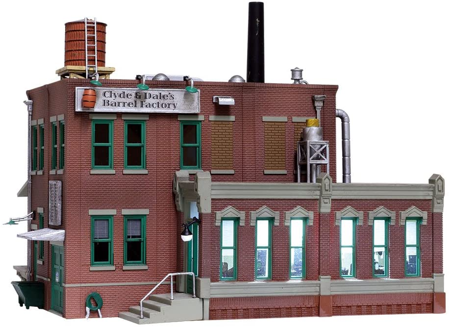Woodland Scenics HO Scale Built-Up Building/Structure Clyde Dales Barrel Factory