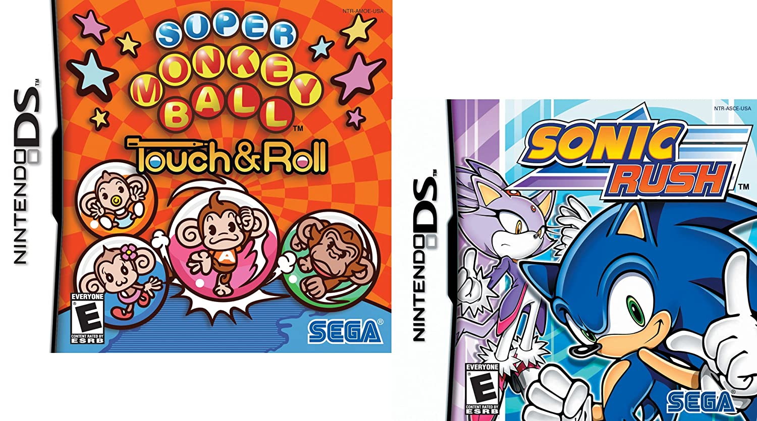 Sega Fun Pack featuring Sonic Rush and Super Monkey Ball Touch and roll - Nintendo DS