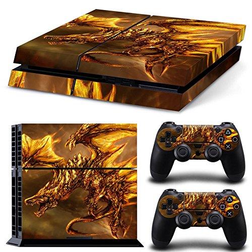 CSBC Skins Sony PS4 Design Foils Faceplate Set - Dragon 2 Design