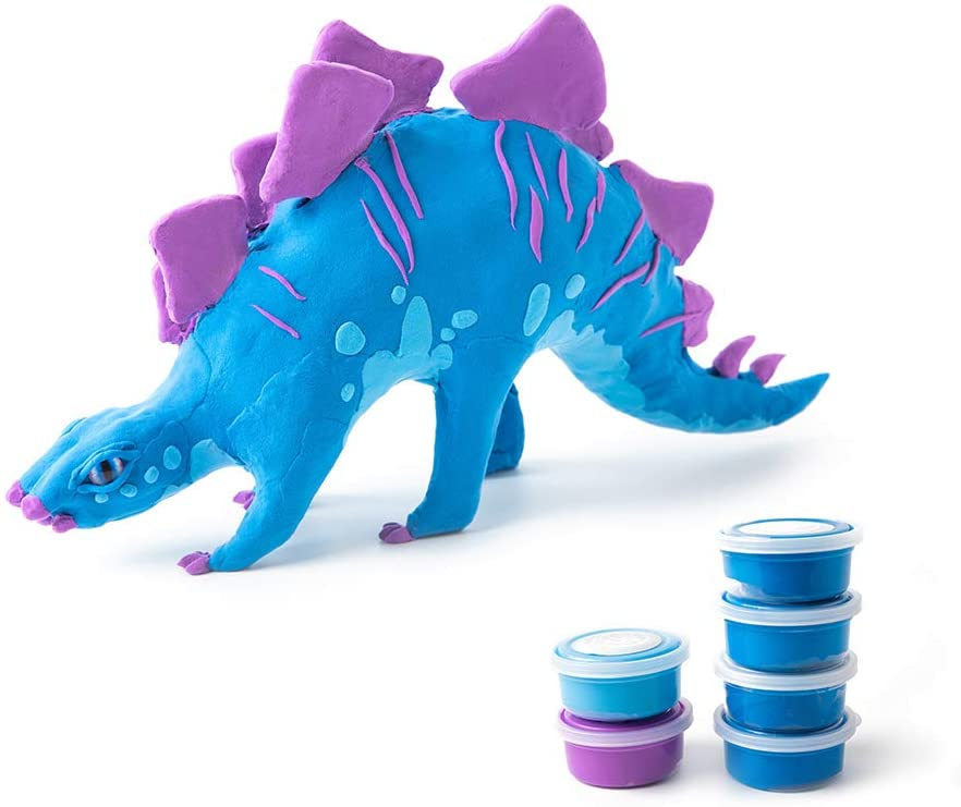 MISCY Clay Dinosaurs 3D Puzzles DIY Model Kits for Boys and Girls Ages 3+, Best Toys Projects Birthday Gifts Especially for Kids 6/7/8/9/10 Years Old, Wood Dinosaur Arts Crafts Stegosaurus