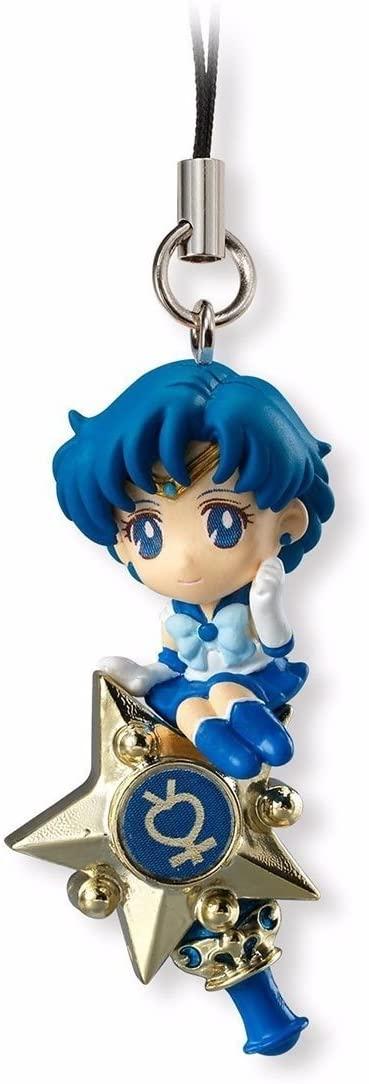 Bandai Shokugan Sailor Moon Twinkle Dolly (Volume 1) Sailor Mercury with Rod Deformed Mascot Charm
