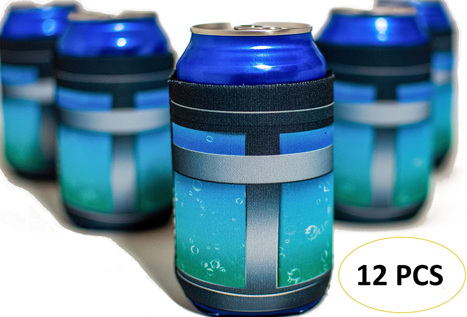 Chug Jug Can Sleeve Battle Royale Gamer Birthday Party Supplies Favor 12 Pack