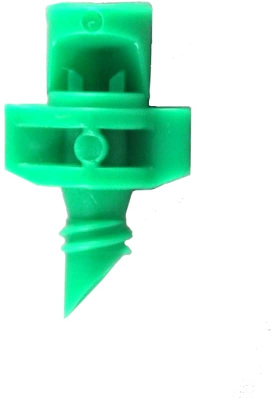 xGarden 60 Pack Green 90 Degree Micro Sprayer Fan Jet - for Hydroponic and Aeroponic Misters and Cloners